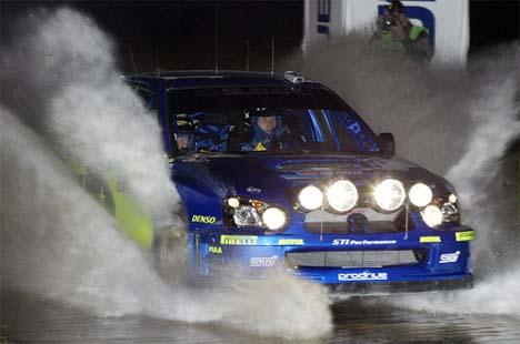 Petter Solberg under første fartsprøve torsdag. Foto: SCANPIX/Nigel Marple
