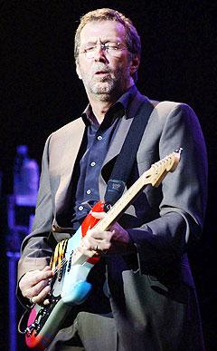 Rockelegenden <b>Eric Clapton</b> har skrevet en tekst til minne om Næss jr. Foto: AP Photo/PA, Andy Butterton.