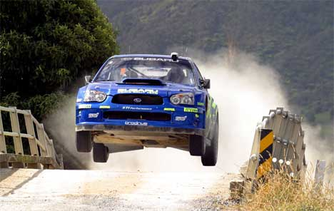 Petter Solberg Rally New Zealand 2004 Foto: SCANPIX/AFP PHOTO/Dean TREML