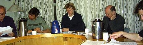 LESEPRØVE: Trond Brænne, Duc Mai-The, Thorbjørn Harr, Sigve Bøe og Lasse Kolsrud