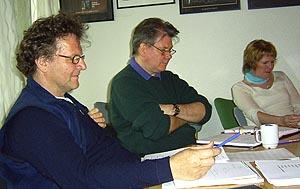 LESEPRØVE: Birgitte Victoria Svendsen (Fru Stockmann), Kyrre Haugen Bakke (regi) og Bodvar Moe (komponist).