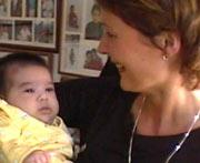 Hege Jørgentvedt hentet lille Andrea i Colombia da hun var bare ti uker gammel. Privat foto.