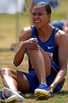 Marion Jones sliter før OL. (Foto: AP/Scanpix)