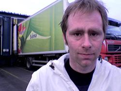 Jøran Natedal er talsmann for de streikende ved BAMA i Skien.