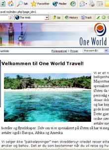 (Faksimile: One World Travel)