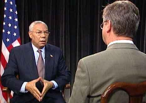 Utspelet frå Powell kom i eit intervju med NRKs USA-korrespondent Jan Espen Kruse. (Foto: NRK)