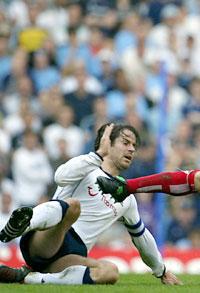 Jamie Redknapp for Tottenham. (Foto: AFP PHOTO / ODD ANDERSEN)
