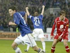 Daniel Fredheim Holm har nettopp scoret sitt første mål for Vålerenga. (Foto: Bjørn Sigurdsøn/Scanpix)