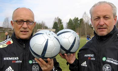 Pål Jacobsen til venstre med sin bror Tom Jacobsen. Begge to viktige støttespillere for Ham-Kam.