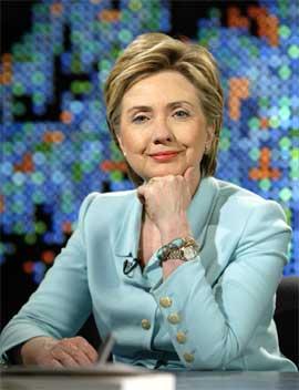 Hillary Clinton under intervjuet med Larry King forrige uke. (Foto: Scanpix / Reuters / CNN)