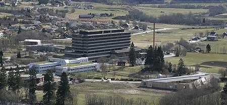 Sentralsjukehusanlegget i Førde. (Foto: Arild Nybø)