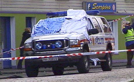 Bilen der politiførstebetjent Arne Sigve Klungland ble skutt og drept av ransmenn i Stavanger 5. april i år.