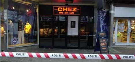 Det var på utestedet Chez i Moss at to dørvakter ble stukket ned og drept for to år siden. (Foto: Knut Fjeldstad / SCANPIX)