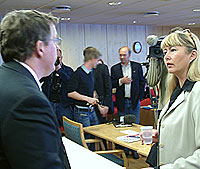 Bjørne Øverås og Gunn Fosse i retten. Foto: Ivar Jensen, NRK.