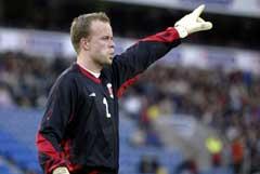 Thomas Myhre spillte første omgang mot Russland. (Foto: Håkon Mosvold Larsen / SCANPIX)