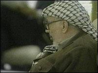 Yasir Arafat på møtet i Egypt(foto:EBU)
