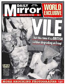 Avisen Daily Mirrors forside i dag sjokkerer britene. (Foto: AP/Scanpix)