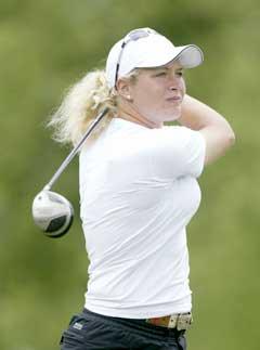 Suzann Pettersen opplevde alle golferes drøm. (Foto: AFP/Scanpix)