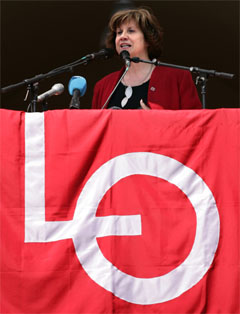 LO-leder Gerd-Liv Valla kritiseres av sine egne. Foto: Scanpix.
