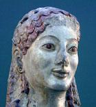 Skulpturen fra Akropolis av en gudinne, uten maling.