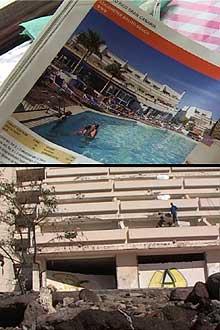 Forskjellen mellom bildet i katalogen og bygningen på Balito Beach er stor.