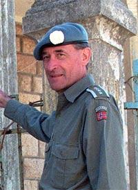 Bataljonssjefen i Sør-Libanon, oberst Vigar Aabrek. (Foto: Scanpix)