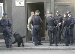 Politiet aksjonerer i Oslo. (Foto: Håkon Mosvold Larsen, Scanpix)