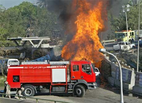 Bilbombe eksploderte i Bagdad torsdag morgen (foto: Reuters/Scanpix).