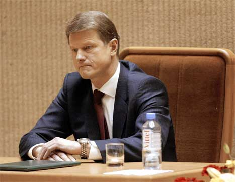 Rolandas Paksas får ikkje stille som kandidat ved presidentvalet i Litauen 6. juni. (Foto: AP/Scanpix)