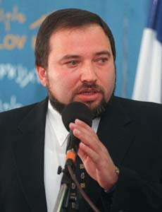 Den israelske transportministeren Avigdor Lieberman. Foto: Nati Harnik, AP/Scanpix.