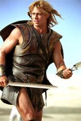 "Brad Pitt fra ""Troja""."