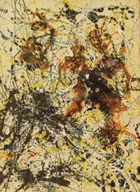 """Jackson Pollocks maleri """"Number 12, 1949"""" ble solgt for nær 12 millioner dollar."""