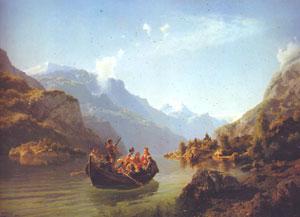 """Tidemand og Gude: """"Brudeferden i Hardanger"""" fra 1848. Foto: Nasjonalgalleriet."""