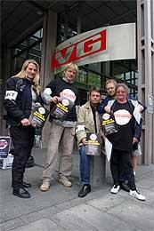 VG-reportere i streik. (Foto: Scanpix)