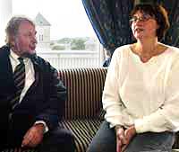 Ellen Inger Aspaas og hennes advokat, Christian Wiig