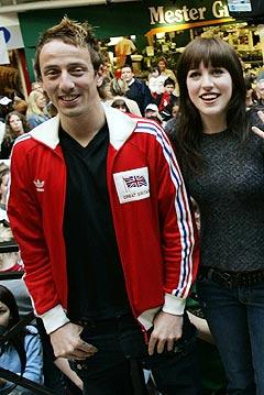 Idol-vinner Kjartan Salvesen sammen med Margaret Berger som ikke fikk være med på turnéen. Foto: Erlend Aas / SCANPIX.