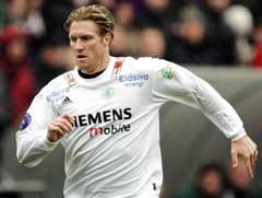 Sveinung Fjeldstad spilte for Ham-Kam mot Stabæk 25. april. (Foto: Cornelius Poppe/SCANPIX)