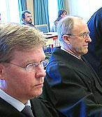 OVDS'advokater Hugo Storø og Johan Fr. Remmen (t.h)