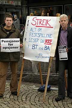 Avis-journalistene var ikke på jobb i dag. Foto: Arne Kristian Gansmo.
