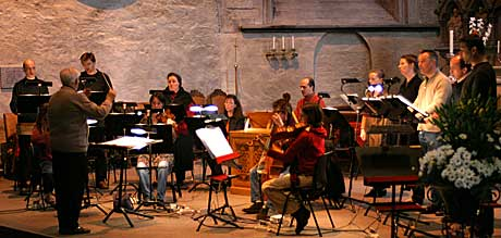 William Byrd Ensemble under Graham O'Reilly i Domkirken Bergen. Foto: Arne Kristian Gansmo, NRK.no.