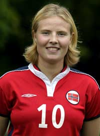 Unni Lehn scoret mot Nederland (Foto: Scanpix/Knut Fjeldstad)