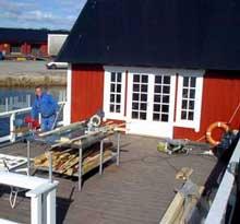 Serveringslekteren er pusset opp for atskillige tusener av kroner. Så langt har Støtzer og Johansen tapt rundt en million på prosjektet. Foto: Rainer Prang NRK.