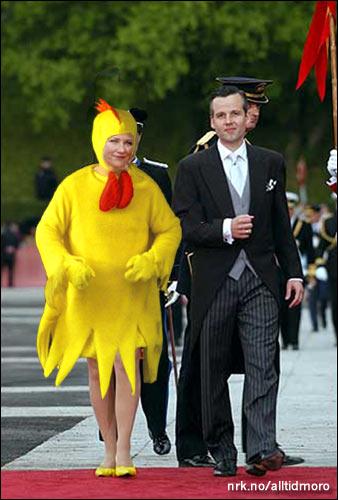 Märtha louise og Ari under kostymeprøvene dagen før bryllupet