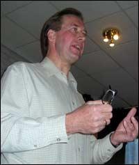 Statssekretær Leif Helge Kongshaug mana til omstilling.