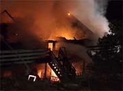 Brann på Rødtangen Bad. Foto: Tor Keiser
