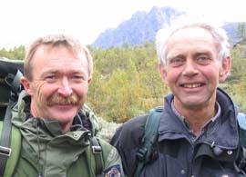 Peter Hermansen og Kjetil Lidtveit var veivisere. Foto: NRK