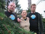 Kurt, Unni og Ørjan skal felle et vanskelig lerketre.