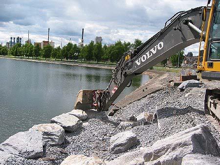 Det er i dette området mudderet skal deponeres. (Foto: Norsk Hydro)