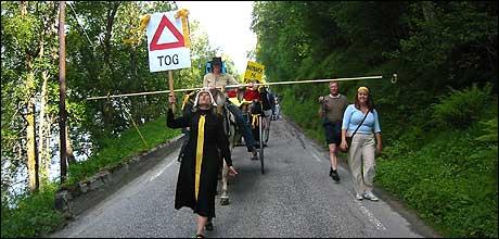 Demonstrantane i indre Nordfjord ser ut til å vinne fram. Arkivfoto Olaf Erlend Gundersen NRK.