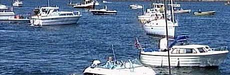 Mange båteiere demonstrerte mot salget av Østre Bollærne sjette juni i år.